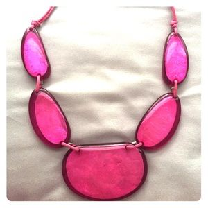 Hot pink stone necklace